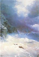 On the storm, 1899, aivazovsky