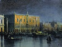 Palace rains in Venice by moonlight, 1878, aivazovsky