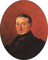 Portrait of A I Kaznacheev, 1847, aivazovsky
