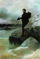 Pushkin-s Farewell to the Black Sea, 1877, aivazovsky