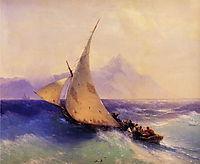 Rescue at Sea, 1872, aivazovsky