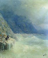 Rocks in the mist, 1890, aivazovsky
