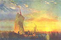Rush on Dnieper near Aleshki, 1857, aivazovsky