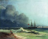 Sea before storm, 1856, aivazovsky