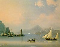 Sea channel with lighthouse, 1873, aivazovsky