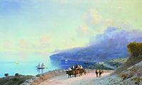 Sea coast. Crimean coast near Ai-Petri, 1890, aivazovsky