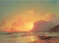 The Sea. Koktebel., 1853, aivazovsky
