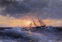 Sea. Sunset , 1896, aivazovsky