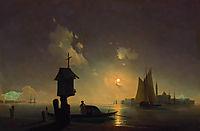 Sea view with chapel, 1845, aivazovsky