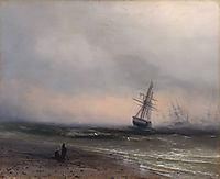 Seascape in Crimea, 1866, aivazovsky