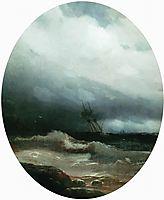 Ship in a storm, 1891, aivazovsky