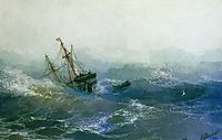The Shipwreck, 1894, aivazovsky