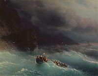 The Shipwreck on Black Sea, 1873, aivazovsky