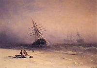 The Shipwreck on Northern sea   , 1875, aivazovsky