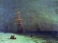 The Shipwreck on Northern sea   , 1875, aivazovsky