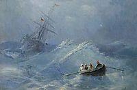 The Shipwreck in a stormy sea, aivazovsky