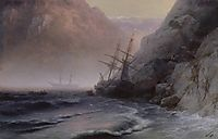 Smugglers, 1884, aivazovsky