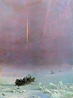 St. Petersburg. The ferry across the river , 1870, aivazovsky