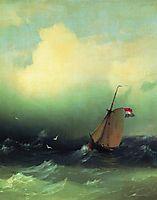 Storm at Sea, 1847, aivazovsky