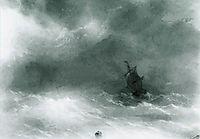 Strong wind, 1856, aivazovsky