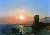 Sunset in Feodosia, 1865, aivazovsky