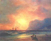 The sunset on sea, 1866, aivazovsky