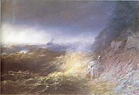 Tempest on the Black sea, 1875, aivazovsky
