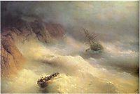 Tempest by cape Aiya, 1875, aivazovsky