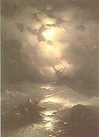 Tempest on the Northern sea, 1865, aivazovsky