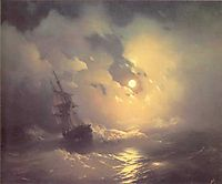 Tempest on the sea at nidht, 1849, aivazovsky