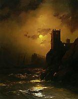 Tower. Shipwreck, 1847, aivazovsky