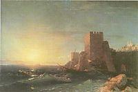 Towers on the Rock Near Bosporus, 1853, aivazovsky