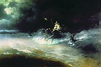 Travel of Poseidon by sea, 1894, aivazovsky