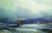 Trebizond from the Sea, 1856, aivazovsky