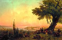 View of Constantinople by evening light, 1846, aivazovsky