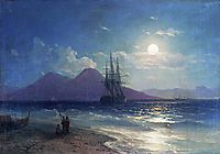 View of the sea at night, 1873, aivazovsky