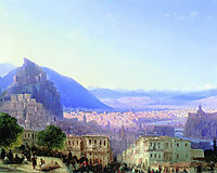 View of Tiflis, 1868, aivazovsky