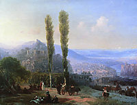View of Tiflis, 1869, aivazovsky