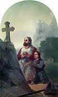 The vow before Avaraisk battle, 1892, aivazovsky