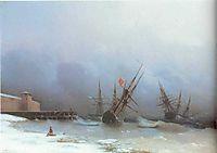 Warning of storm, 1851, aivazovsky