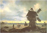 Windmill on the Sea Coast, 1837, aivazovsky