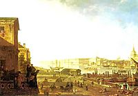 The Admiralty and the Winter Palace viewed from the Military College, 1794, alekseyev