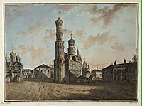 Ivan the Great Bell Tower and Chudov Monastery in the Kremlin, c.1805, alekseyev