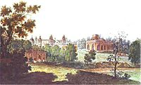 Palace in Tsaritsyno in the Vicinity of Moscow, c.1800, alekseyev