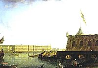 View of the Fortress of St. Peter and Paul and the Palace Embankmant, 1799, alekseyev