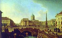 View of the Kazan Cathedral in St. Petersburg, 1811, alekseyev