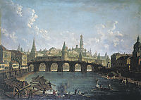 View of the Kremlin and the Kamenny Bridge in Moscow, alekseyev