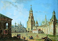 View from the Kremlin-s Spassky Gate, 1800, alekseyev