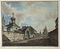 View from the Lubyanka square to Vladimirskiye gate, 1800, alekseyev