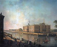 View onto St. Michael-s Castle in St. Petersburg from the Fontanka Side, alekseyev